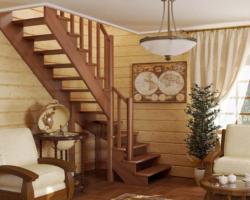 Готовая лестницы на второй этаж К‑001м‑4