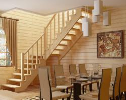 Готовая лестницы на второй этаж К‑002м‑4