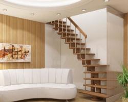 Готовая лестницы на второй этаж К‑008м