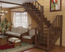 Готовая лестницы на второй этаж К‑021м