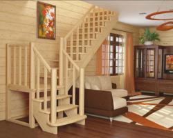 Готовая лестницы на второй этаж К‑022м