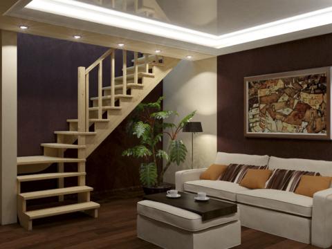 Готовая лестницы на второй этаж К‑031м