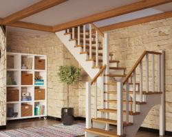 Готовая лестницы на второй этаж К‑032м