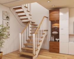 Готовая лестницы на второй этаж К‑034м
