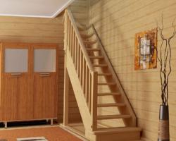 Готовая лестницы на второй этаж ЛС-215м