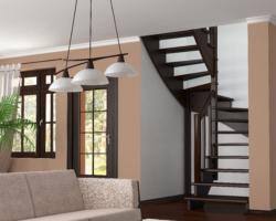 Готовая лестницы на второй этаж К‑003м‑1
