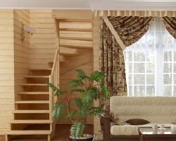Готовая лестницы на второй этаж К‑003м‑3
