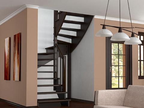 Готовая лестницы на второй этаж К‑003м‑5