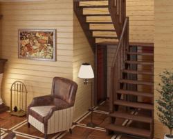 Готовая лестницы на второй этаж К‑004м‑2