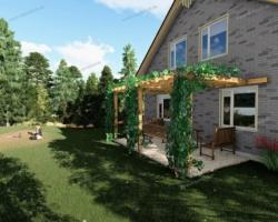 Навес — пергола для вашего сада, технология строительства