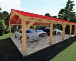Как построить деревянный навес для машины своими силами