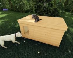 Как построить зимнюю будку для собаки своими руками