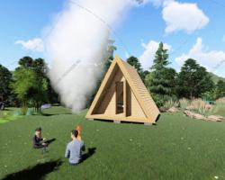 Технология строительства А‑образного дачного домика
