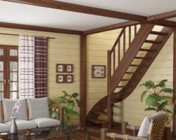 Готовая лестницы на второй этаж ЛС-07м‑2