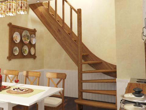 Готовая лестницы на второй этаж ЛС-07м-3