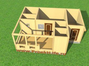 баня из бруса проекты бань- межэтажное перекрытие