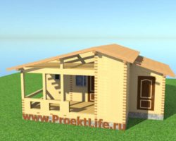 Крыша для бани из бруса