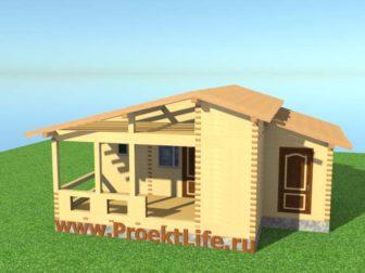 Крыша для бани из бруса своими руками лаги-для-крыши