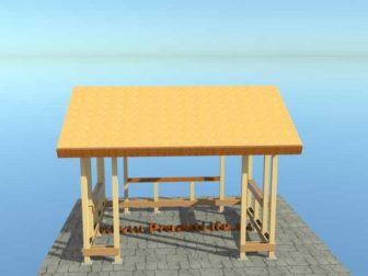 беседка своими руками с двускатной крышей крыша