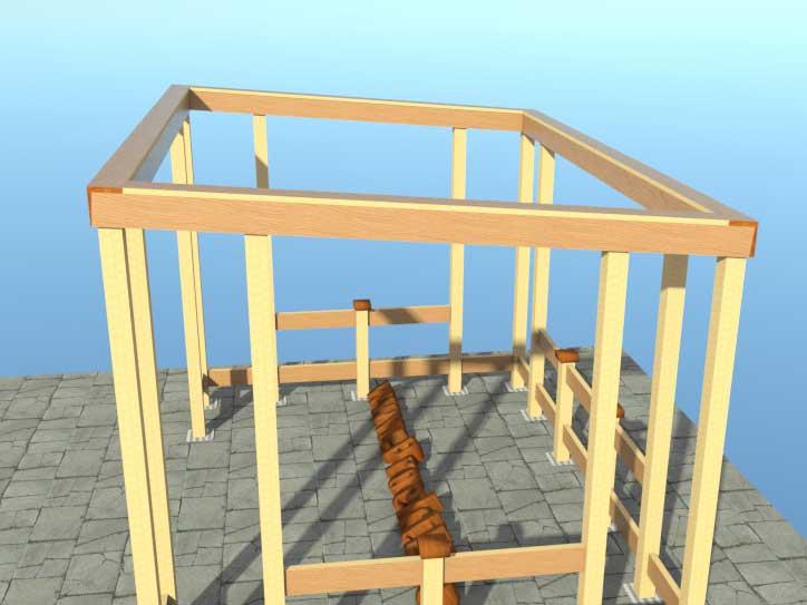 Построить беседку с односкатной крышей своими руками 67