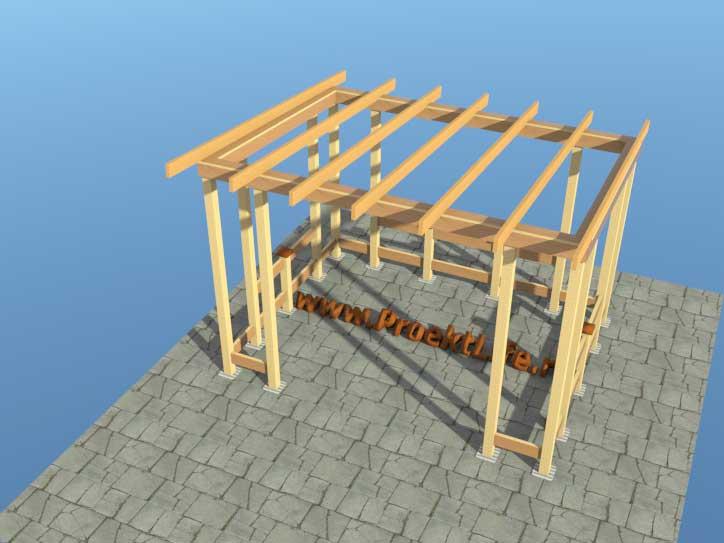 Односкатная крыша пошагово для беседки