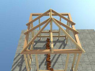 с четырёхскатной крышей