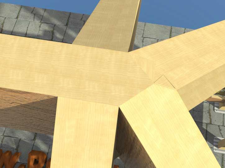 Беседка с четырёхскатной крышей своими руками