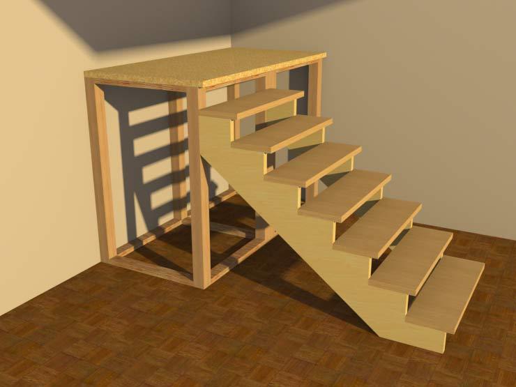 Лестница на 2этаж своими руками 322