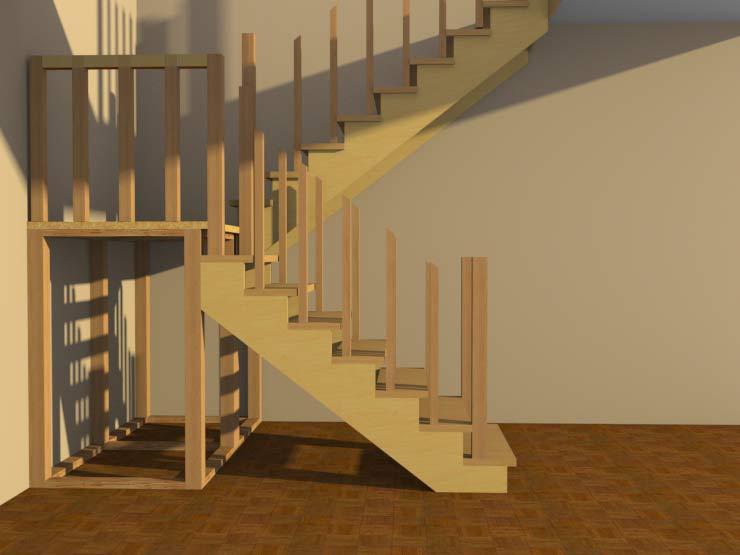 Лестницы своими руками в садовый домик 38