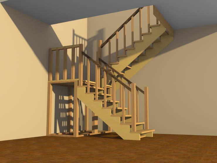 Лестницы своими руками в садовый домик 55