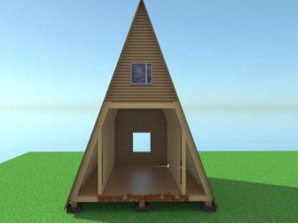 А-образный дом своими руками-дом-дача