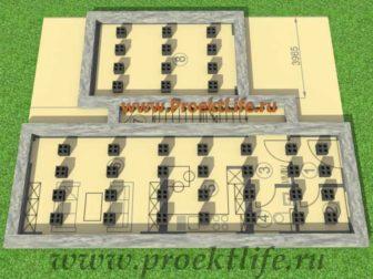 каркасный дом с плоской крышей, Каркасный дом с односкатной крышей - Каркасный дом с односкатной крышей -  каркасный 336x252
