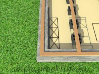 каркасный дом с плоской крышей, Каркасный дом с односкатной крышей - Каркасный дом с односкатной крышей - 1 336x252