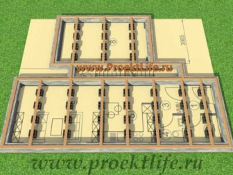 каркасный дом с односкатной крышей лежни
