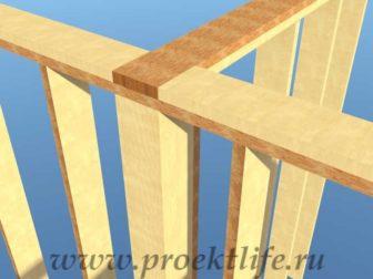 Как построить дом-верхняя обвязка стен и перегородки