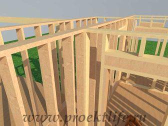 Как построить стены каркасного дома