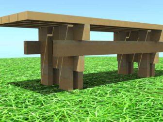 стол для сада - Стол для сада своими руками -  для сада 336x252