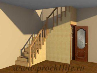 лестница на второй этаж в частном доме на даче своими руками фото
