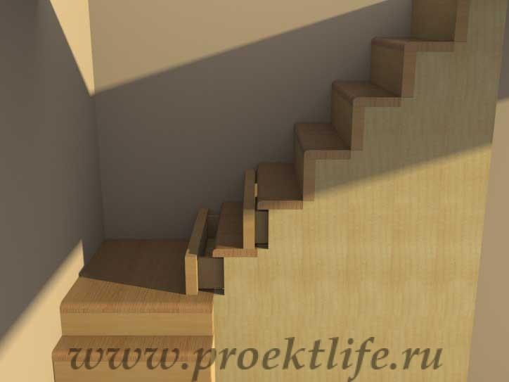 Лестница ящиков своими руками 49