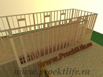 Как построить дом - второй этаж каркасного дома лестничный пролёт