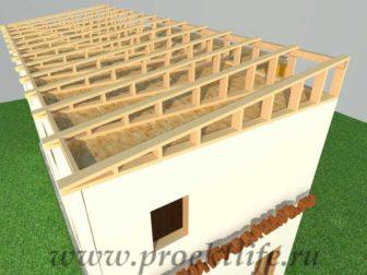 Как построить дом - крыша второго этажа каркасного дома