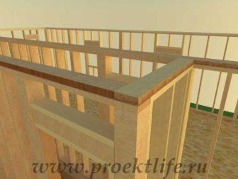 Как построить дом - второй этаж каркасного дома верхняя обвязка