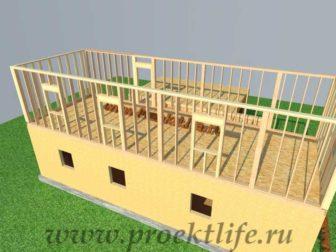 Как построить дом - второй этаж каркасные стены