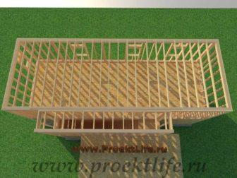 Как построить дом - перекрытие второго этажа каркасного дома