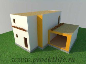 Как построить дом - фасад второго этажа каркасного дома