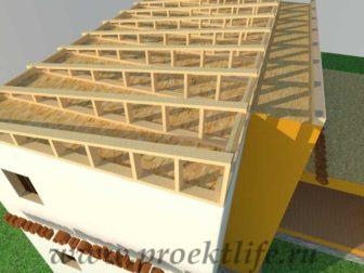 Как построить дом - односкатная крыша второго этажа каркасного дома