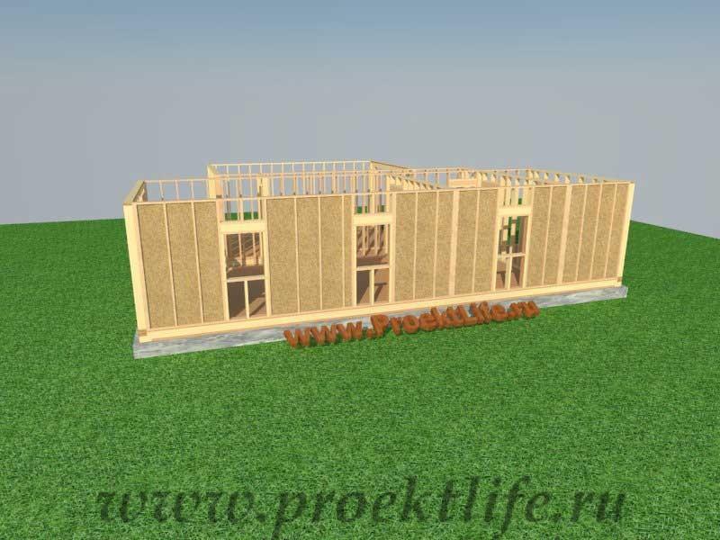стен каркасного дома