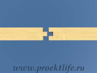 Нижняя обвязка торцевое соединение шип-паз
