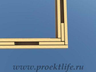 Нижняя обвязка Угол имитации трёх досок