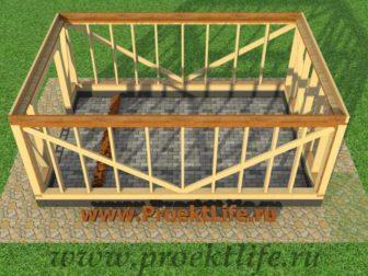 Каркасный гараж, гараж по каркасной технологии, гараж - Гараж по каркасной технологии своими руками -  перекрытие1 336x252